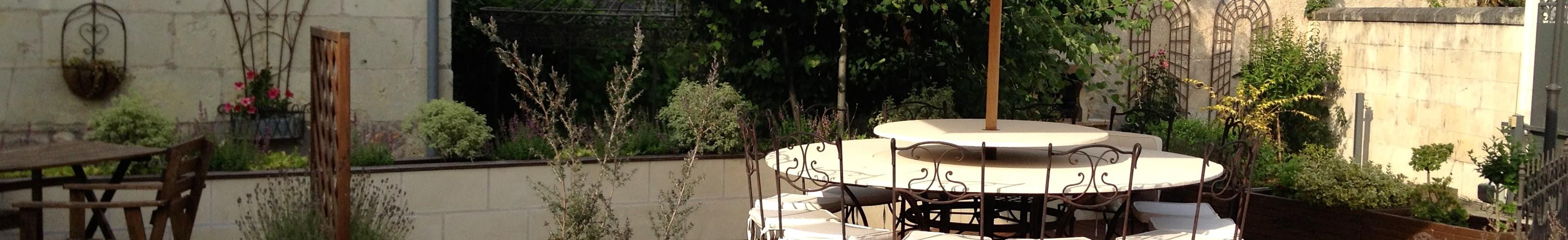 Terrasse Chambre d'hôtes L'Ange est rêveur Langeais 37
